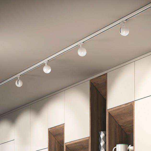 Illuminazione a binario a LED in ABS BOLA 6541 By Milan Iluminación