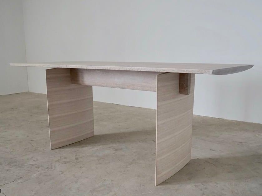 Oak table / writing desk BOLDNESS by KYOHEI & MIRANDA