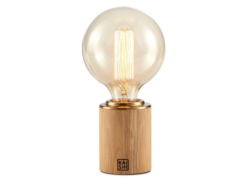 LED wood and glass table lamp BOLE | Table lamp by KAISHI