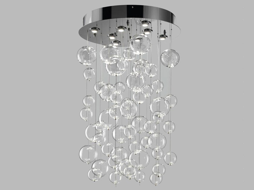 Blown glass ceiling lamp BOLERO | Ceiling lamp by Metal Lux