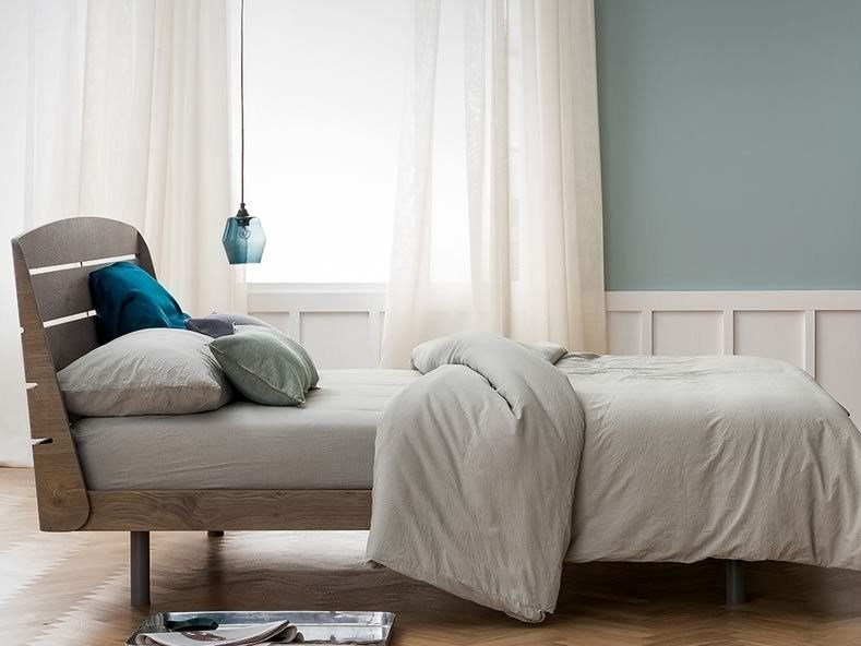 Wooden double bed BOLERO by Dall'Agnese