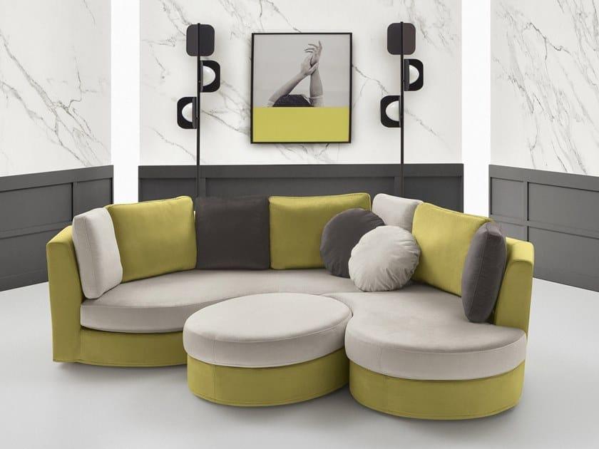 Corner sectional fabric sofa BOLERO by Felis