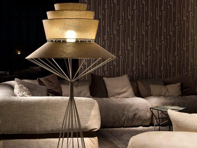 Fabric floor lamp BOLERO | Floor lamp by Cattelan Italia