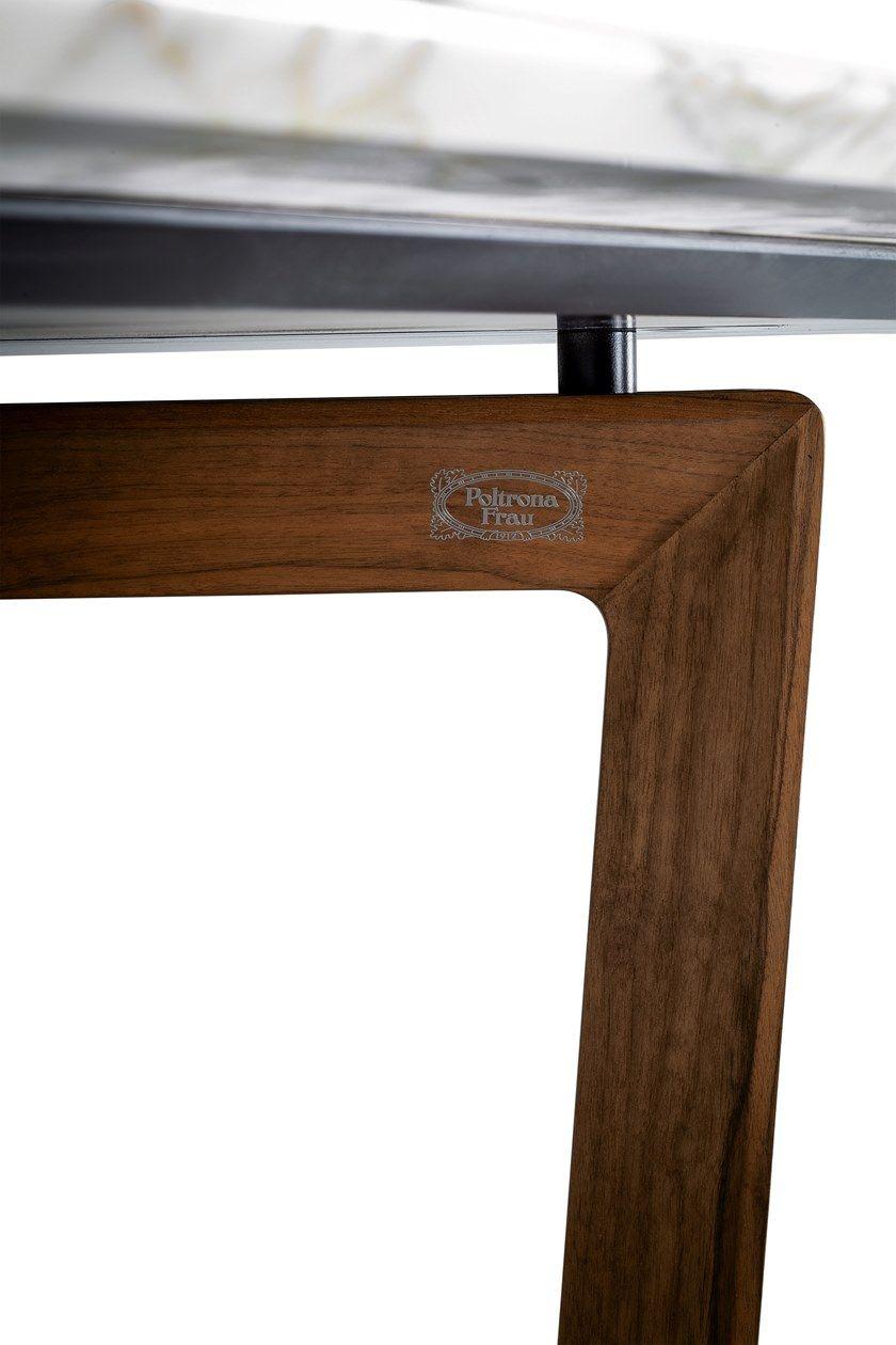 Rectangular wooden and marble table BOLERO RAVEL By Poltrona Frau ...