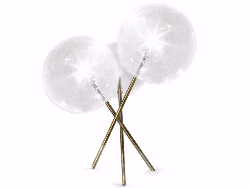 Halogen blown glass table lamp BOLLE 3 by Gallotti&Radice