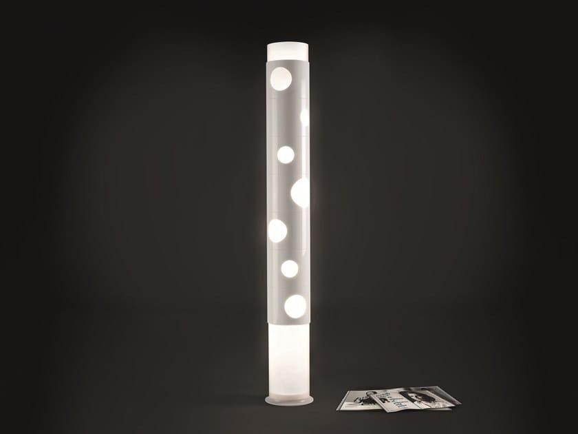 Aluminium floor lamp BOLLE by Pallucco