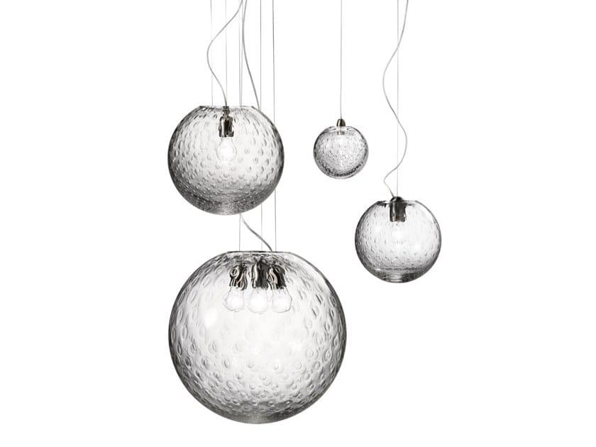 Lámpara colgante de vidrio BOLLE SP by Vetreria Vistosi