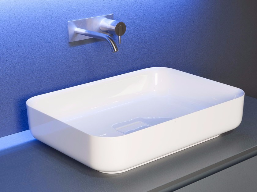 Countertop Ceramilux® washbasin BOLO By Antonio Lupi Design