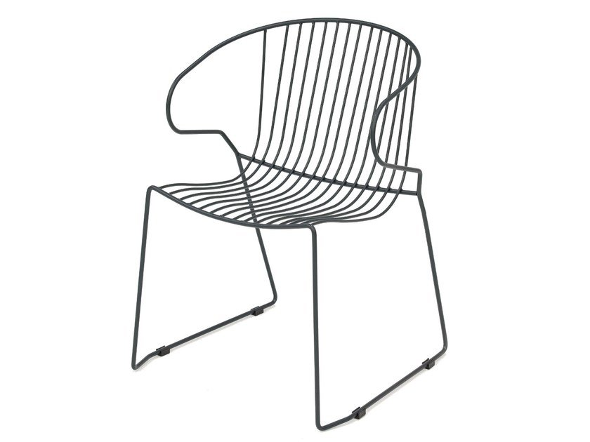 Sled base powder coated steel chair BOLONIA | Sled base chair by iSimar
