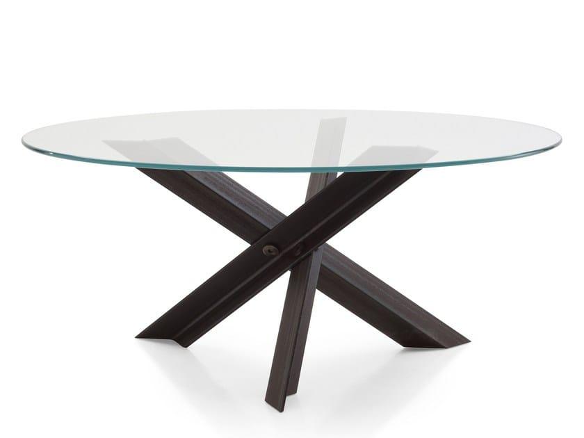 Tavolo da salotto rotondo in acciaio e vetro BOLT By B&B Italia ...