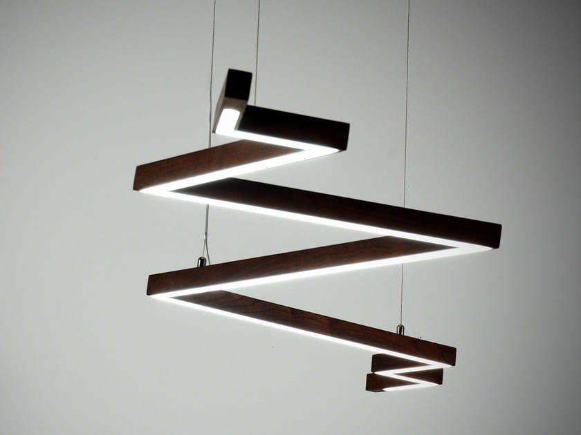 LED direct light solid wood pendant lamp BOLT | Pendant lamp by hollis+morris