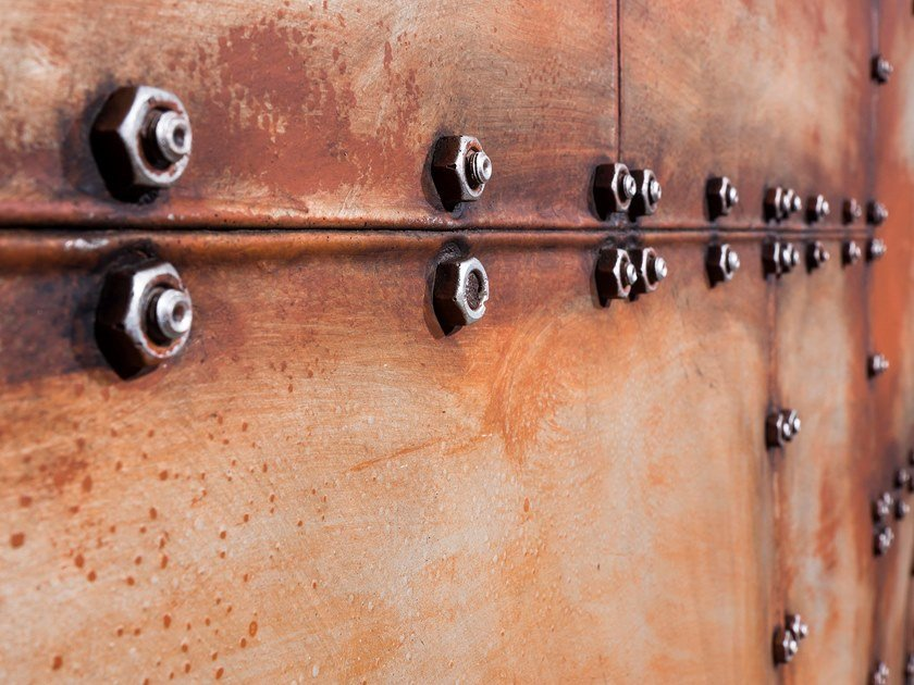 3D Wall Cladding with metal effect BOLTS by Artstone Panel Systems