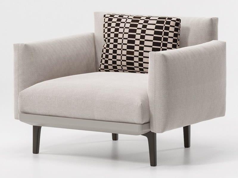 Fabric garden armchair with armrests BOMA | Garden armchair by KETTAL