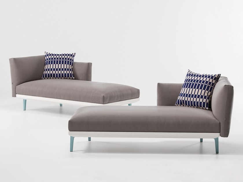 Upholstered fabric Garden daybed BOMA | Garden daybed by KETTAL