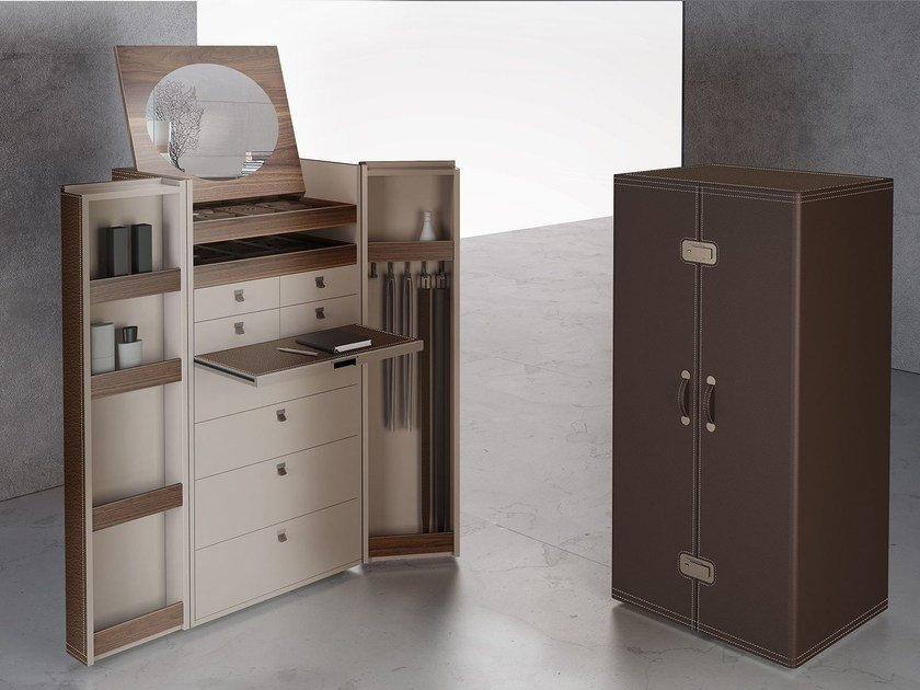Ash wardrobe with drawers BOMBAY by ALIVAR