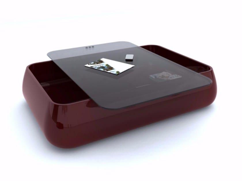 Tavolino basso in Adamantx® con vano contenitore BOMBER by ZAD ITALY