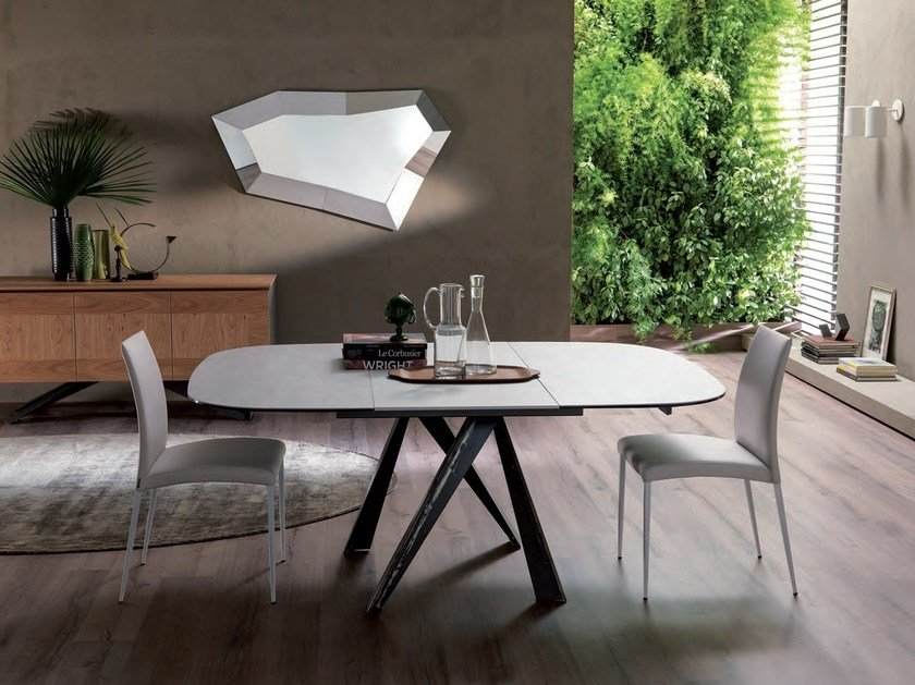 Extending crystal table BOMBO | Extending table by Ozzio Italia