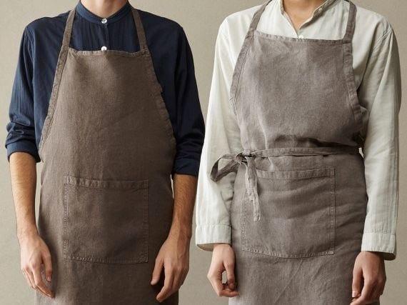 Heavy linen apron BON by Society Limonta
