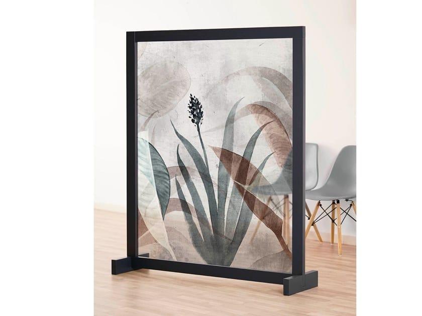 Pannello divisorio floreale in IMPEX® e struttura in legno BON VOYAGE by NC Design Group