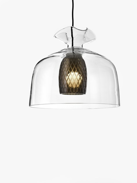LED blown glass pendant lamp BONBON by Lasvit