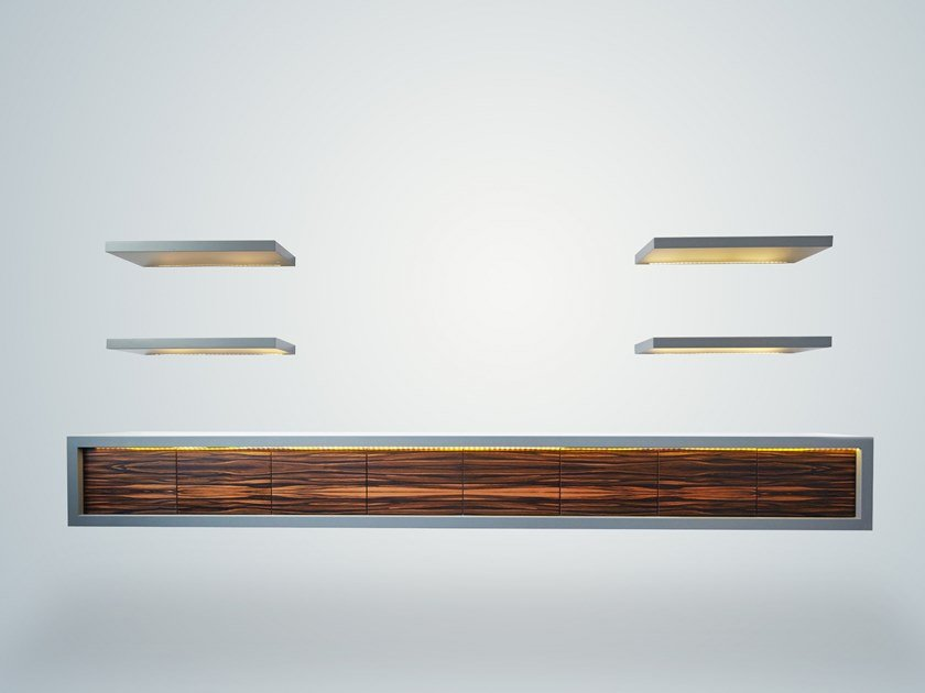Lacquered wall-mounted wooden TV cabinet BOND by IVAR London