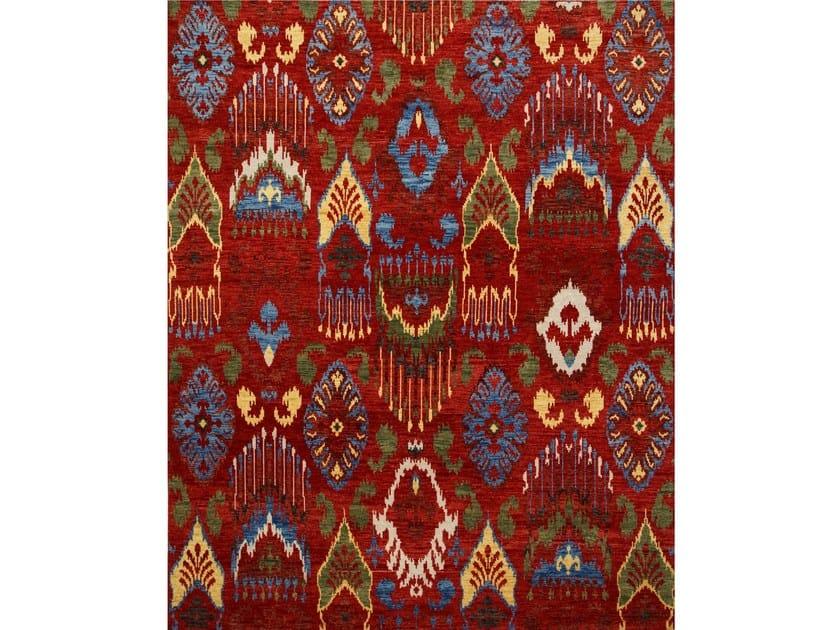 Handmade rug BOND LCA-03 Velvet Red/Sunflower by Jaipur Rugs