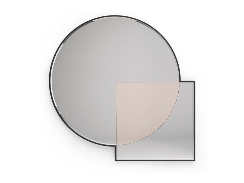 Wall-mounted glass mirror BONDI by PRADDY