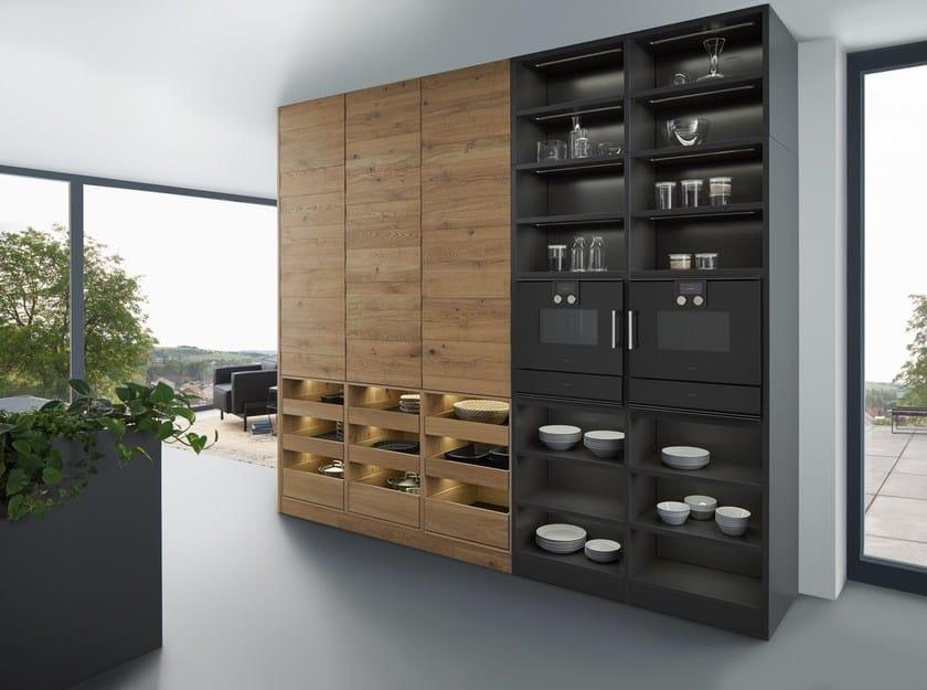 aus massivem Holz mit Kücheninsel BONDI | VALAIS By LEICHT