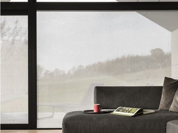 Self-adhesive transparent fabric for covering windows BONE by ACTE-DECO