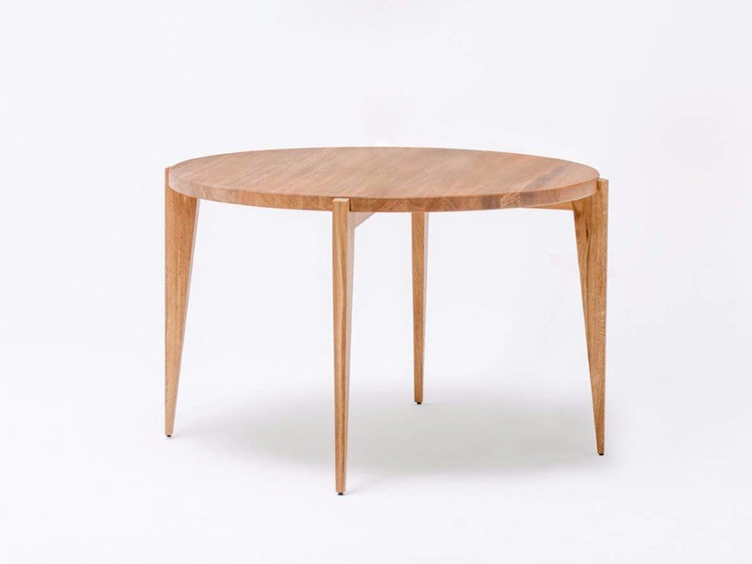 Round English oak dining table BONFOR by ST FURNITURE