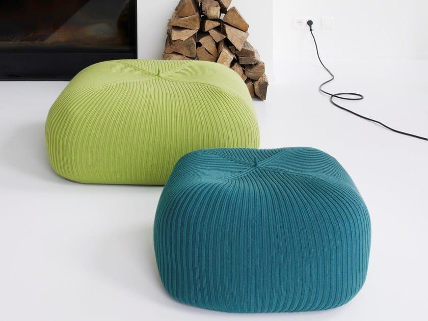 Wool pouf BONNET INDOOR by Casalis