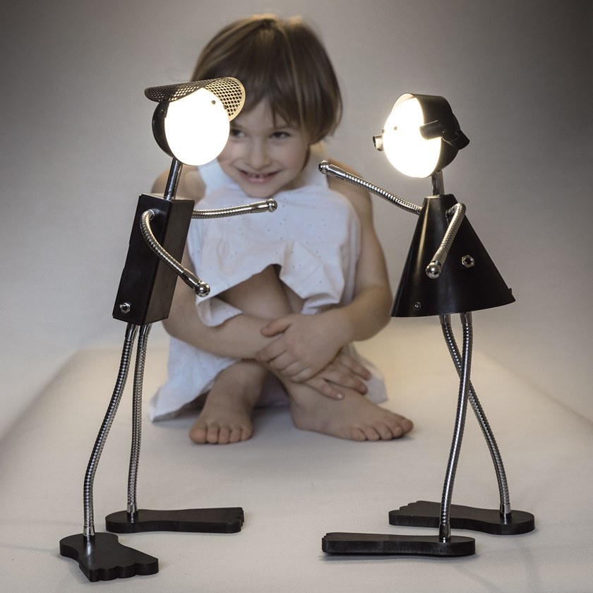 LED table lamp with rechargeable battery BONNIE & CLYDE | Table lamp by ANNA LARI