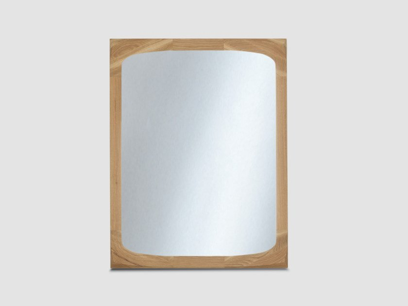 Rectangular wall-mounted framed mirror BONNY by ZEITRAUM