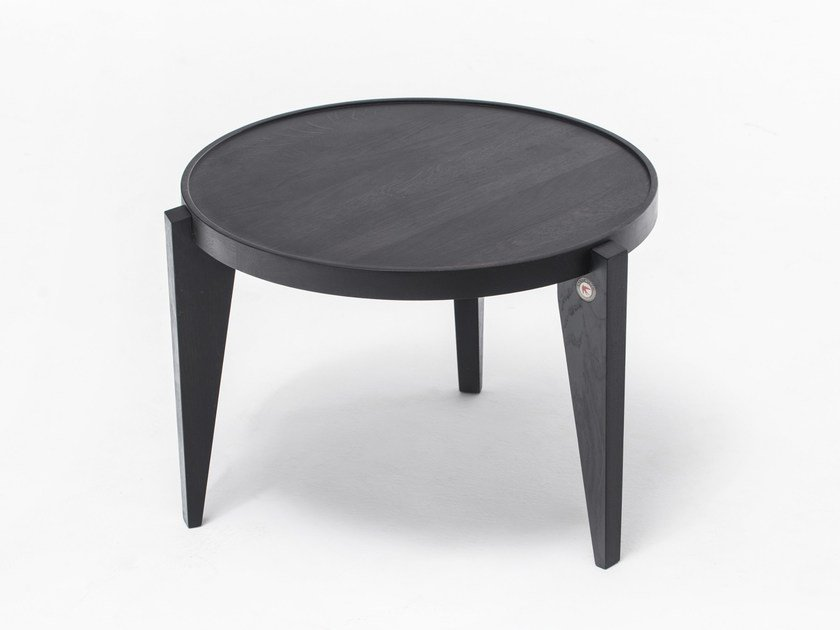 Tavolino rotondo in quercia BONTRI BLACK by ST FURNITURE