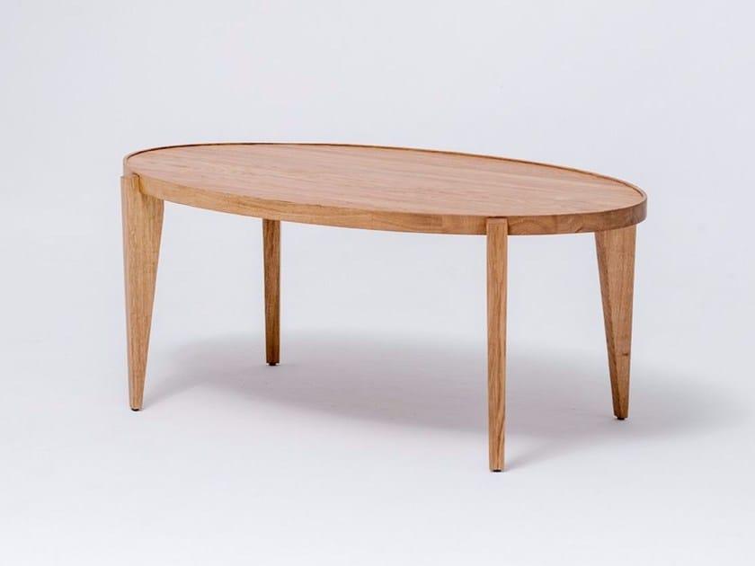 Oval English oak coffee table BONTRI ELLIPSE by ST FURNITURE