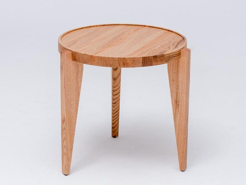 Round English oak coffee table BONTRI by ST FURNITURE