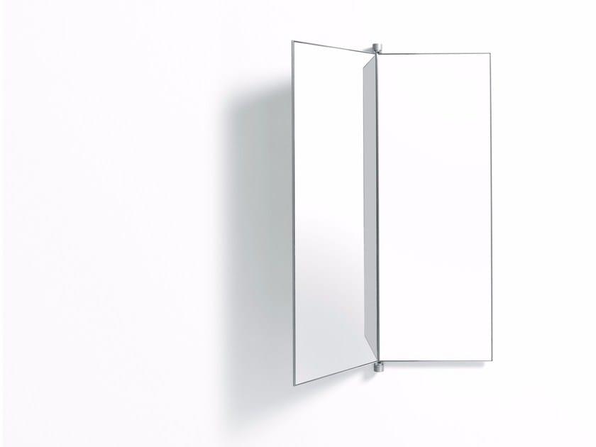 Wall-mounted rectangular mirror BOOK by DE PADOVA