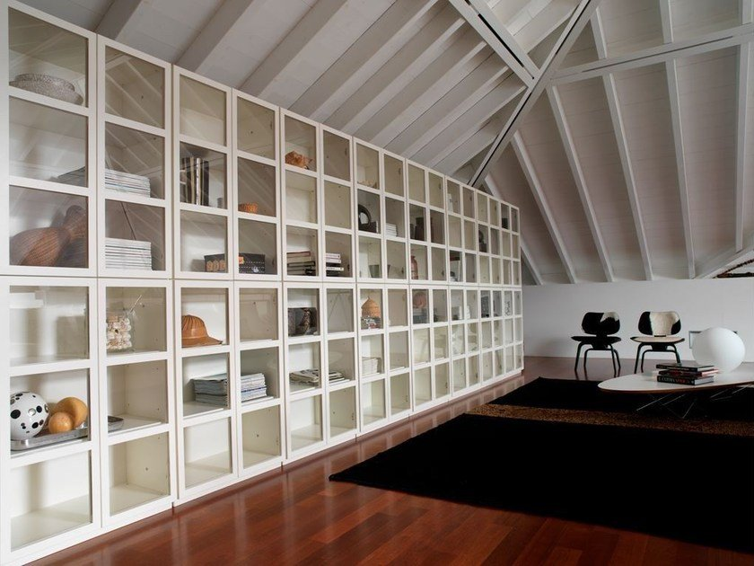 Sectional lacquered bookcase BOOK | Lacquered bookcase by IFT
