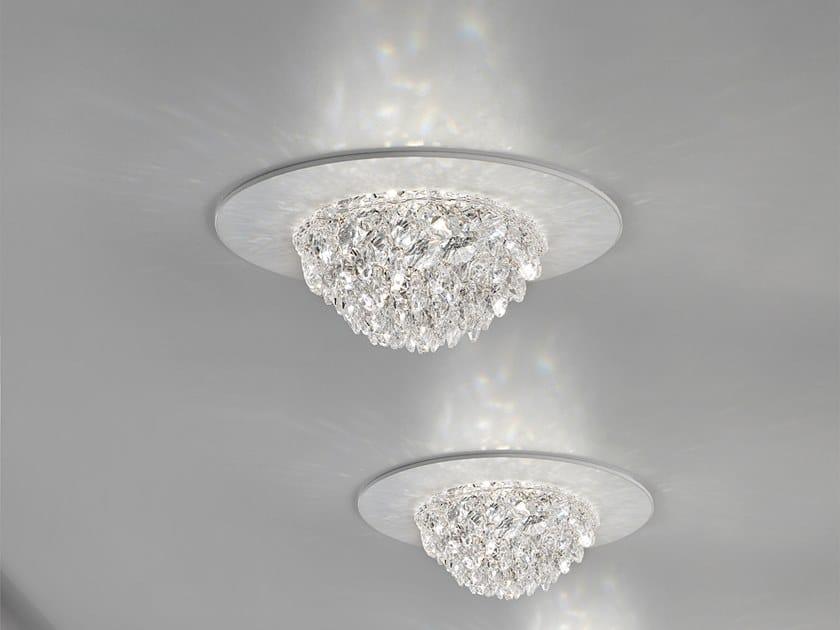 Plafoniere Di Cristallo : Plafoniera a led luce diretta in cristallo bool spot masiero