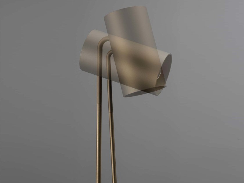 LED adjustable carbon floor lamp BOOM by Olev