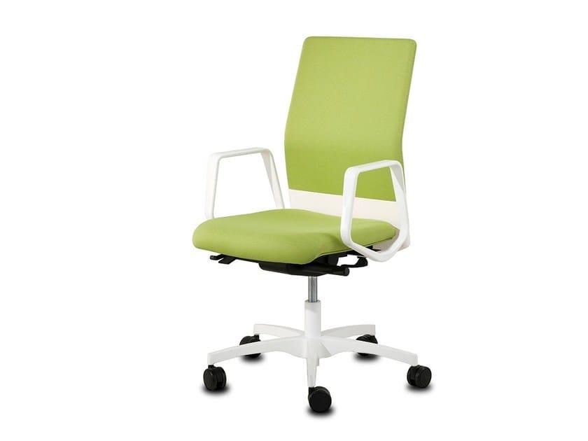 Height-adjustable swivel task chair with 5-Spoke base BOOMERANG 9400 RA (AB) C/B8 (B) by delaOliva