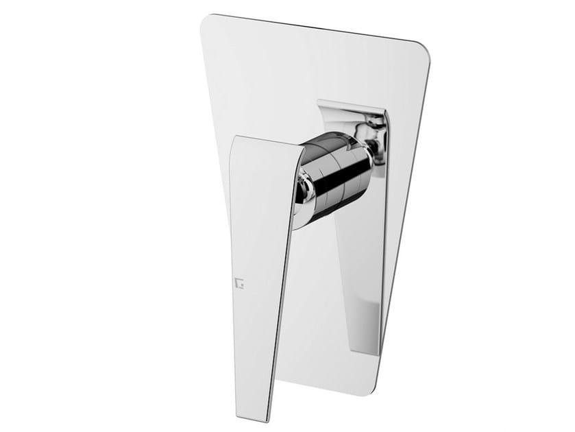 Shower mixer with plate BOOMERANG | Shower mixer by Gattoni Rubinetteria