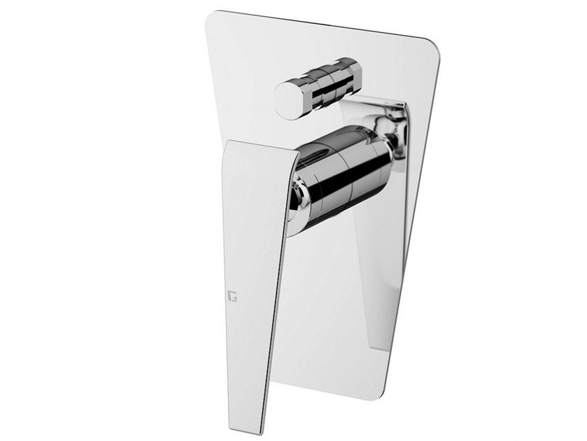 Shower mixer with diverter with plate BOOMERANG | Shower mixer with diverter by Gattoni Rubinetteria