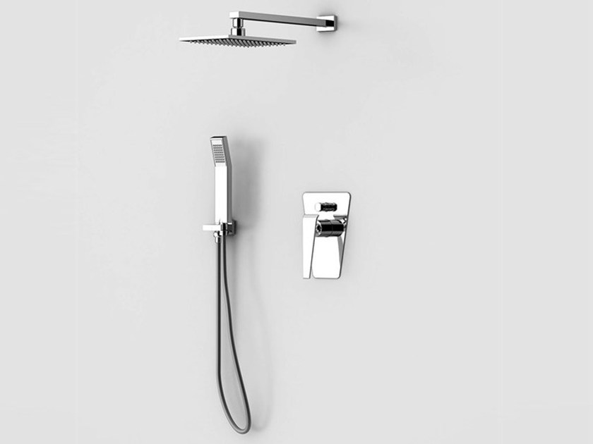 Shower mixer with hand shower with overhead shower BOOMERANG | Shower mixer by Gattoni Rubinetteria