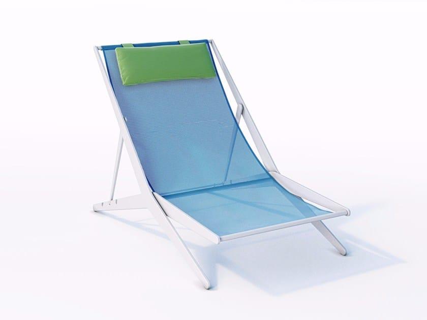 Liegestuhl aus Technischem Gewebe BOOMY By Coro Design Matteo Nunziati