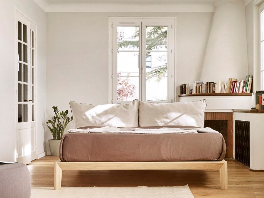 Wooden bed double bed BORA by TREKU