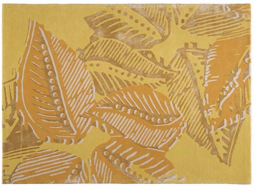 Patterned rectangular fabric rug BORA by Toulemonde Bochart