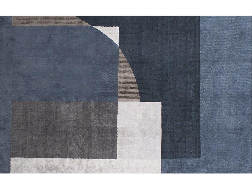 Handmade rectangular rug BORDERLAND by BAXTER
