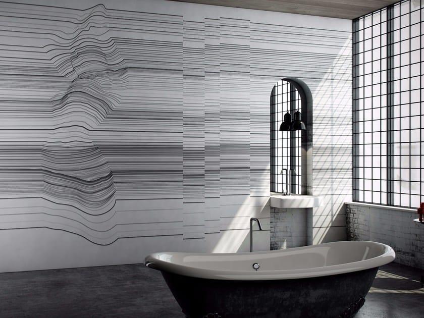 Washable optical vinyl wallpaper BORDERLINE by GLAMORA