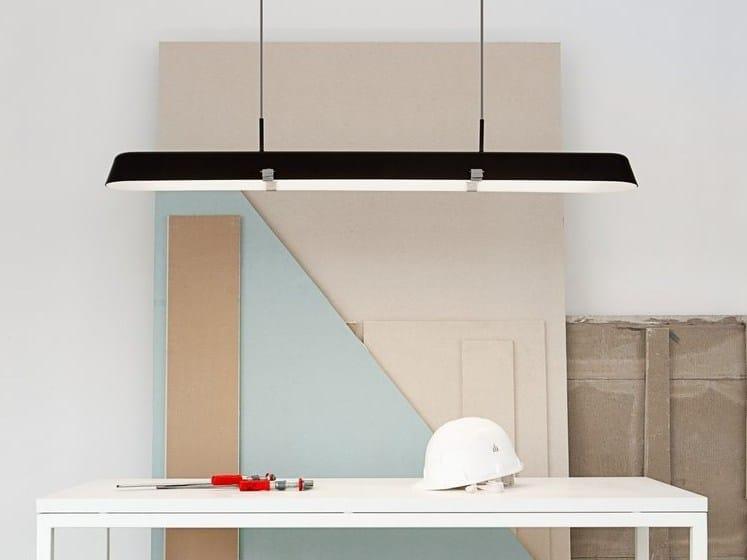 Direct-indirect light fluorescent acrylic pendant lamp BORDERLINE LONG | Pendant lamp by Vertigo Bird
